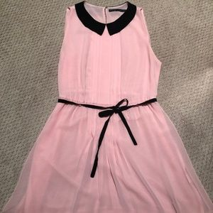 Zara Peter Pan Collar Pink Dress